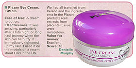 Plazan skin care test by Irish Examiner